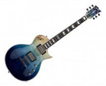ESP E-II Eclipse Burl Maple top in Blue Natural Fade