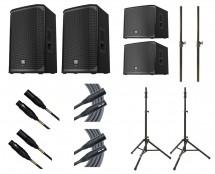 2x Electro-Voice EKX-12P + 2x EXK-15SP + Stands + Poles + Mogami Cables