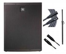 Electro-Voice ELX118P + Pole + Mogami Cables