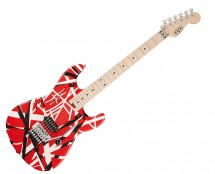 EVH Striped Series Electric Guitar - Red With Black Stripes Used