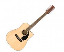 Fender CD-60SCE Dreadnought 12-String - Natural w/ Walnut Fingerboard