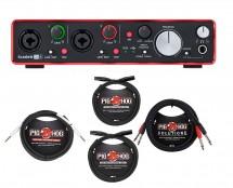 Focusrite Scarlett 2i4 MKII + Cables