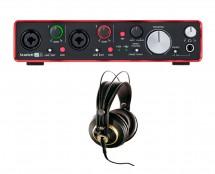 Focusrite Scarlett 2i4 MKII + AKG K 240 Studio