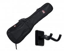 Gator GB-4G-BASS Bass Guitar Gig Bag + Frameworks Wall Hanger (Black)