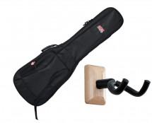 Gator GB-4G-BASS Bass Guitar Gig Bag + Frameworks Wall Hanger (Maple)