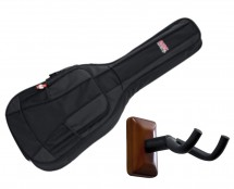 Gator GB-4G-MINIACOU Mini Acoustic Gig Bag + Frameworks Wall Hanger (Mahogany)