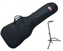 Gator GBE-BASS Bass Guitar Gig Bag + Guitar Stand