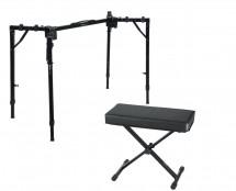 Gator GFW-UTL-WS250 Adjustable T-Stand Folding Workstation + Bench