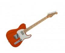 G&L Fullerton Deluxe ASAT Classic Bluesboy Clear Orange w/ Maple Fingerboard