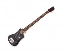 Hofner Shorty Electric Bass Guitar, Black, W/Gig Bag