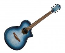 Ibanez AEWC400IBB AEWC Acoustic-Electric Guitar Indigo Blue Burst Gloss