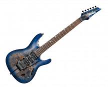 Ibanez S Premium 6 String Electric Guitar w/ Case - Cerulean Blue Burst