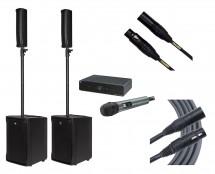 RCF EVOX JMIX8 + RCF EVOX J8 + Sennheiser XSW 1-835 + Mogami Cables