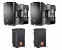 2x JBL EON610 + Convertible Covers