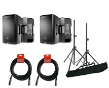 2x JBL EON610 + Stands + Cables