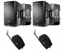 2x JBL EON610 + Bags