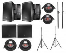 2x JBL EON612 + 2x JBL EON618S + Poles + Stands + Cables