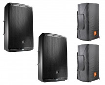 2x JBL EON615 + Convertible Covers