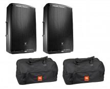 2x JBL EON615 + Bags