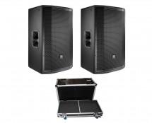2x JBL PRX815W + ATA Case