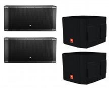 2x JBL SRX828SP + Deluxe Covers