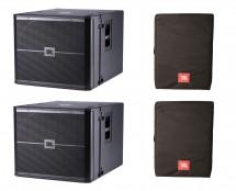 2x JBL VRX918S + Covers