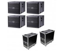 4x JBL VRX918SP + ATA Cases