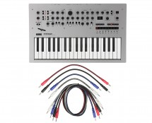 Korg Minilogue + 8 Pack Mixed 3.5mm Mono Patch Cables