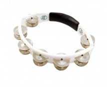 LP Cyclops Handheld Tambourine - White Steel