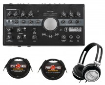 Mackie Big Knob Studio Plus + TRS Cables + Headphones