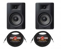 "M-Audio BX5 D3 5"" Studio Monitor Pair + Cables"