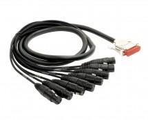 Mogami Gold 8 Channel DB25-XLR Female Snake Cable 20 Feet