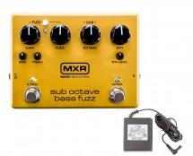 MXR M287 Sub Octave Bass Fuzz + Power Supply