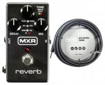 MXR M300 Reverb + 20' Instrument Cable