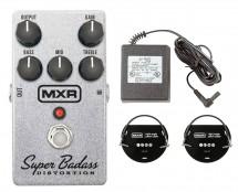 MXR M75 Super Badass Distortion + Power Supply + Patch Cables