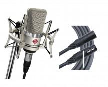 Neumann TLM 102 Studio Set (Nickel) + Mogami Cable