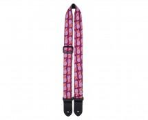 """Perris Leathers FWS15-7128 Nylon Ukulele Strap - 1.5"""", Purple Pineapples"""