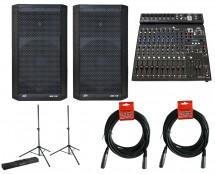 Peavey Dark Matter 112 Speaker 2 + Peavey PV 14 BT Mixer + Stands + Bag + Cables