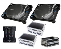 2x Pioneer PLX-1000 + Xone:23 + Odyssey Cases