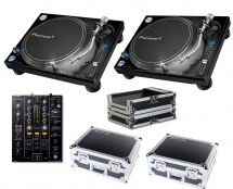 2x Pioneer PLX-1000 + DJM-450 + Odyssey Cases