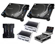 2x Pioneer PLX-1000 + Xone:23 + Odyssey Cases + Glide Style Case
