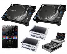 2x Pioneer PLX-1000 + DJM-S9 + Odyssey Cases + Glide Style Case