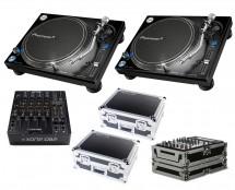 2x Pioneer PLX-1000 + Xone:DB2 + Odyssey Cases