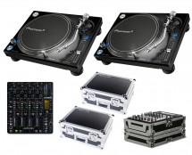 2x Pioneer PLX-1000 + Xone:DB4 + Odyssey Cases