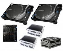 2x Pioneer PLX-1000 + DJM-900 Nexus 2 + Odyssey Cases