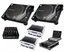 2x Pioneer PLX-1000 + Xone:43 + Odyssey Cases + Glide Style Case