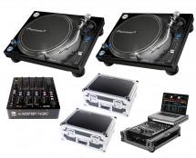 2x Pioneer PLX-1000 + Xone:43C + Odyssey Cases + Glide Style Case