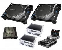 2x Pioneer PLX-1000 + Xone:92 Fader + Odyssey Cases + Glide Style Case