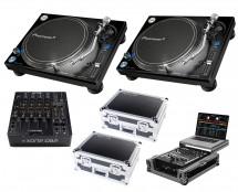 2x Pioneer PLX-1000 + Xone:DB2 + Odyssey Cases + Glide Style Case