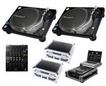 2x Pioneer PLX-1000 + DJM-900 Nexus 2 + Odyssey Cases + Glide Style Case